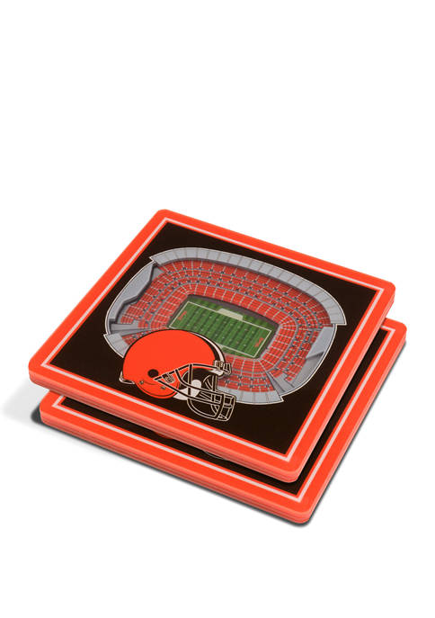 NFL Cleveland Browns 3D StadiumViews Set of 2 Coasters  - FirstEnergy Stadium
