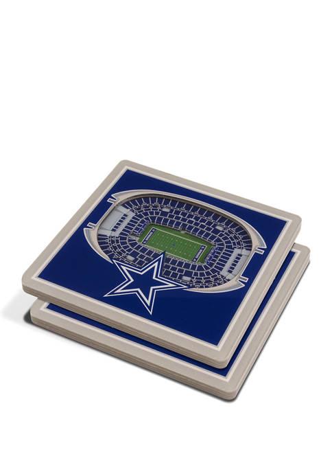 NFL Dallas Cowboys 3D StadiumViews Set of 2 Coasters  - AT&T Stadium