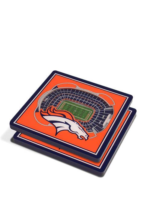 NFL Denver Broncos 3D StadiumViews Set of 2 Coasters - Mile High Stadium