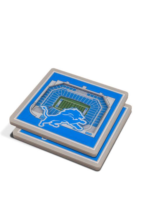 NFL Detroit Lions 3D StadiumViews 2 Pack Coaster