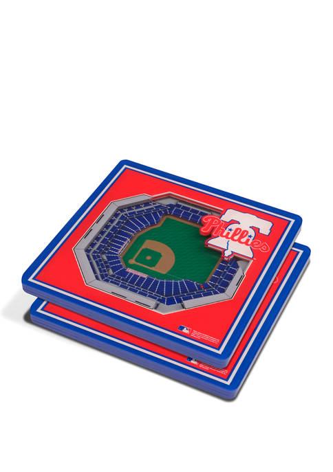 MLB Philadelphia Phillies 3D StadiumViews 2-Pack Coaster Set - Citizens Bank Park
