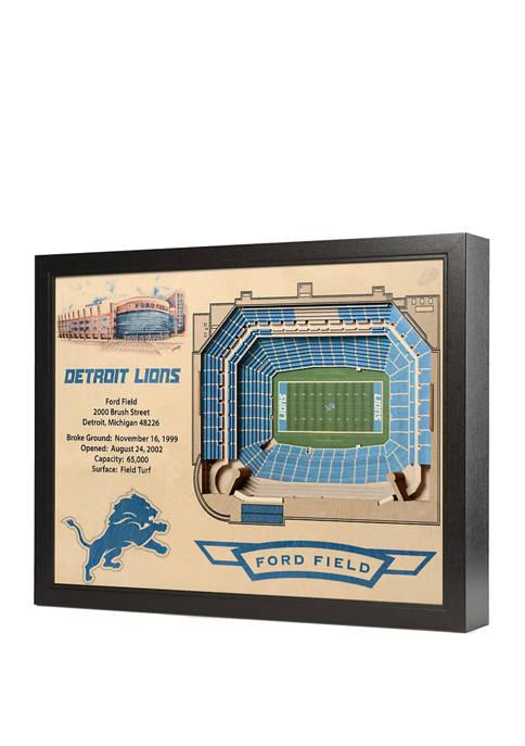 NFL Detroit Lions 25-Layer StadiumViews 3D Wall Art - Ford Field