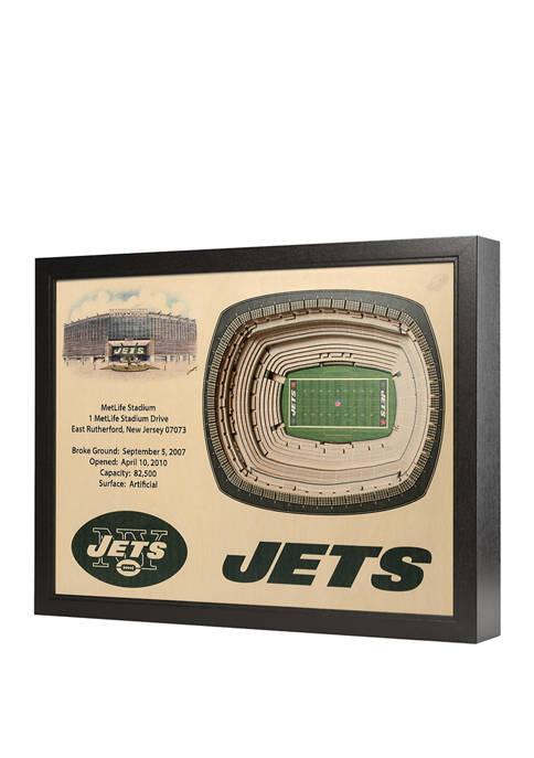 NFL New York Jets 25-Layer StadiumViews 3D Wall Art - MetLife Stadium