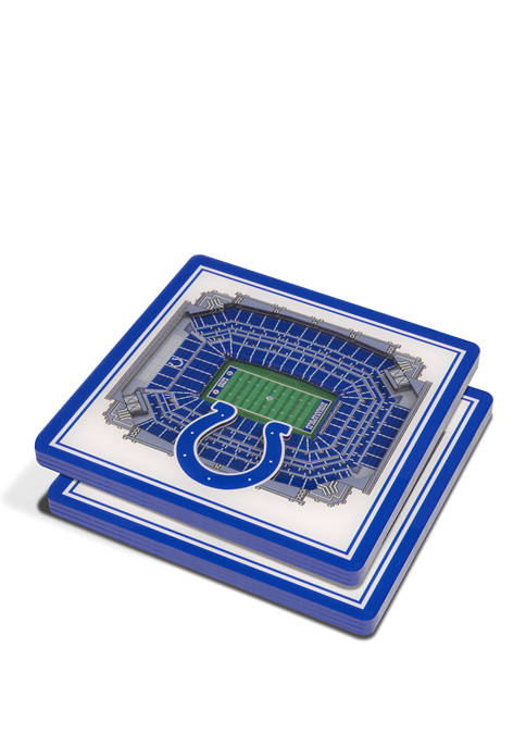 NFL Indianapolis Colts 3D StadiumViews 2 Pack Coaster