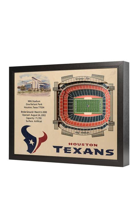 NFL Houston Texans 25-Layer StadiumViews 3D Wall Art - NRG Stadium