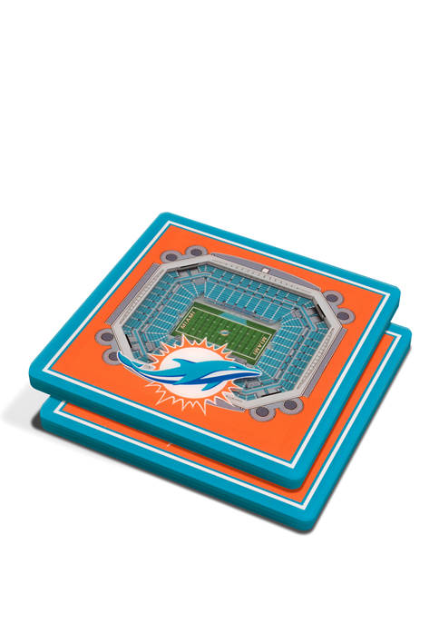 NFL Miami Dolphins 3D StadiumViews 2 Pack Coaster