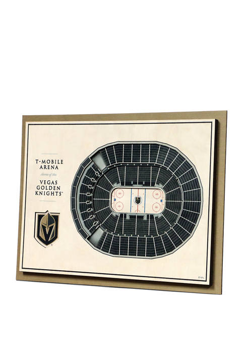 NHL Vegas Golden Knights 5 Layer StadiumViews 3D Wall Art - T-Mobile Arena