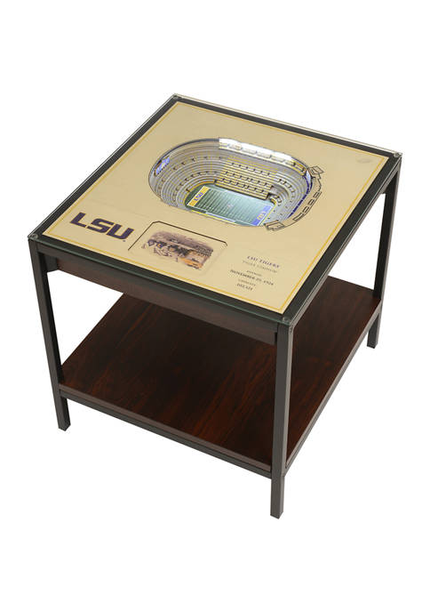 NCAA LSU Tigers 25-Layer StadiumViews Lighted End Table - Tiger Stadium