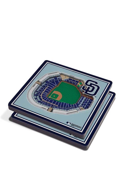 MLB San Diego Padres 3D StadiumViews 2-Pack Coaster