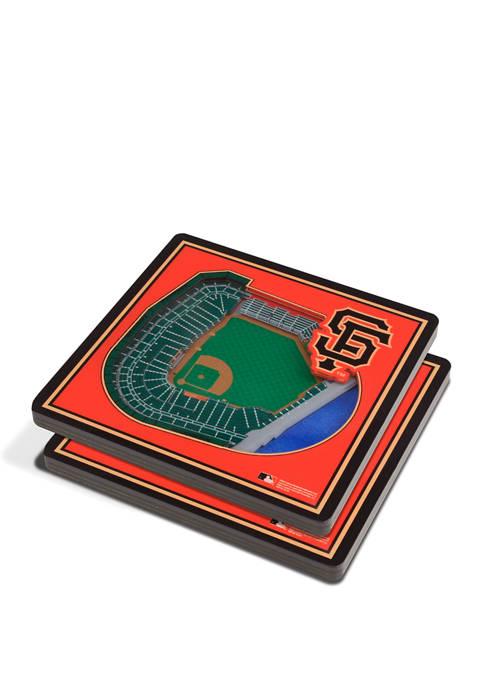 MLB San Francisco Giants 3D StadiumViews 2-Pack Coaster Set - Oracle Park