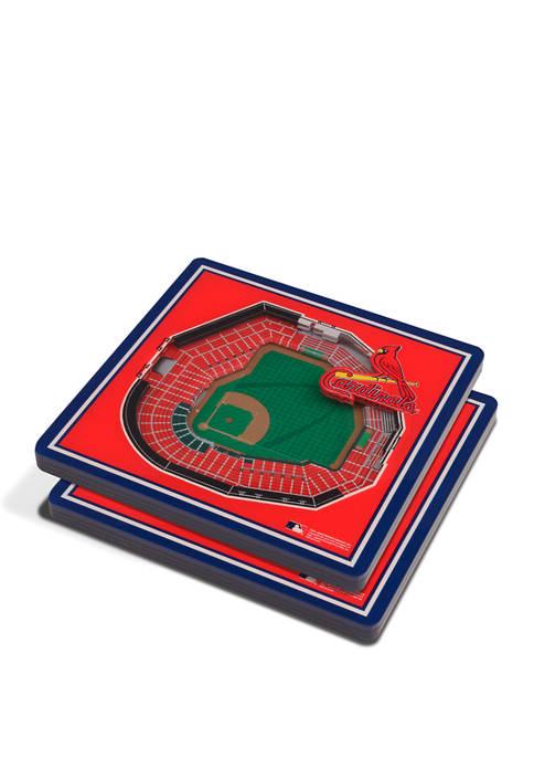 MLB St. Louis Cardinals 3D StadiumViews 2-Pack Coaster
