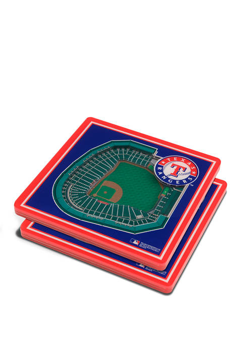 MLB Texas Rangers 3D StadiumViews 2-Pack Coaster Set - Globe Life Park in Arlington