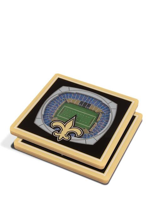 NFL New Orleans Saints 3D StadiumViews Set of 2 Coasters - Mercedes-Benz Superdome