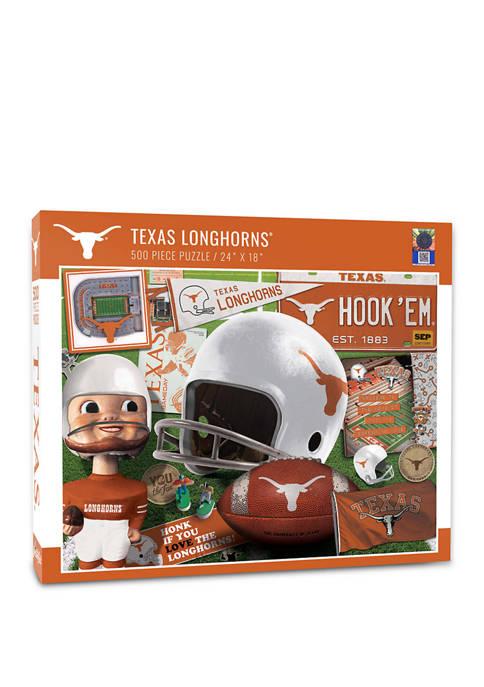 NCAA Texas Longhorns Retro Series Puzzle - 500 Pieces