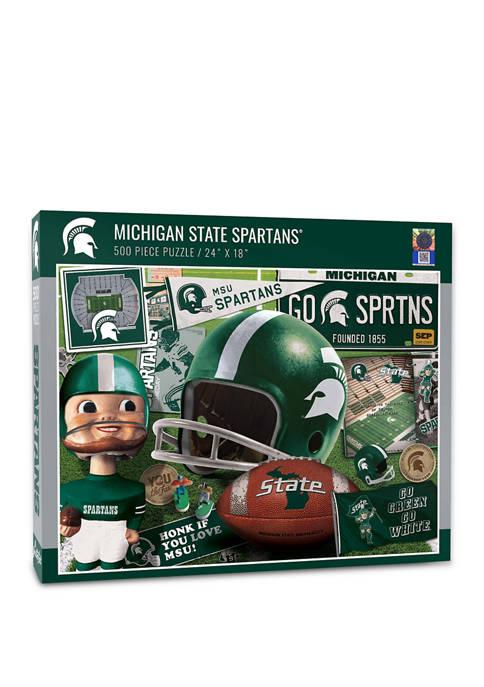 NCAA Michigan State Spartans Retro Series Puzzle - 500 Pieces