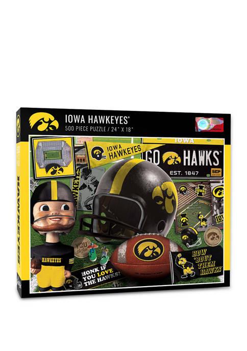 NCAA Iowa Hawkeyes Retro Series Puzzle - 500 Pieces