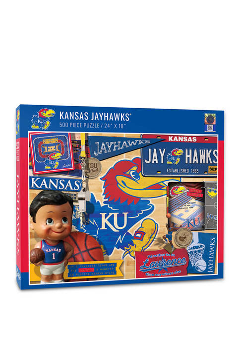 NCAA Kansas Jayhawks Retro Series Puzzle - 500 Pieces