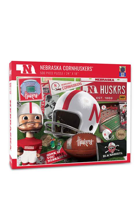 NCAA Nebraska Cornhuskers Retro Series Puzzle - 500 Pieces