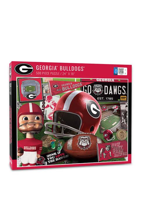 NCAA Georgia Bulldogs Retro Series Puzzle - 500 Pieces
