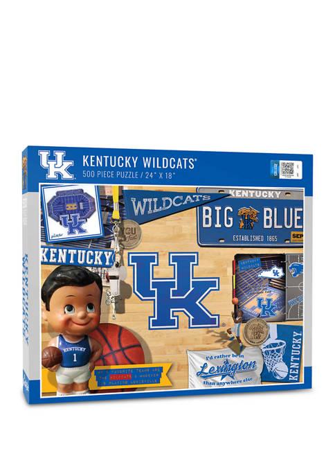 NCAA Kentucky Wildcats Retro Series Puzzle - 500 Pieces