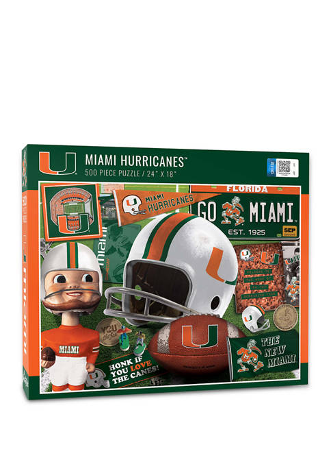 NCAA Miami Hurricanes Retro Series Puzzle - 500 Pieces