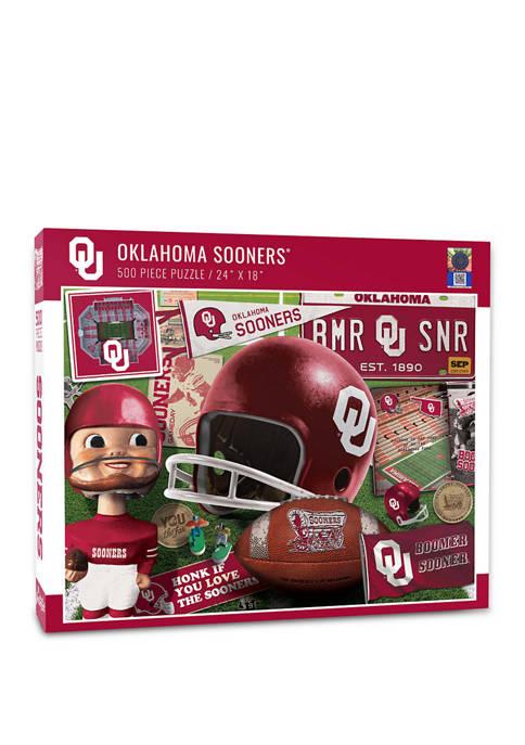 NCAA Oklahoma Sooners Retro Series Puzzle - 500 Pieces