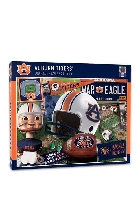 NCAA Auburn Tigers Retro Series Puzzle - 500 Pieces