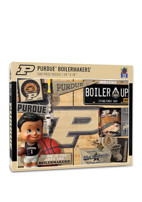 NCAA Purdue Boilermakers-BB Retro Series Puzzle - 500 Pieces