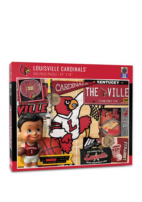 NCAA Louisville Cardinals Retro Series Puzzle - 500 Pieces