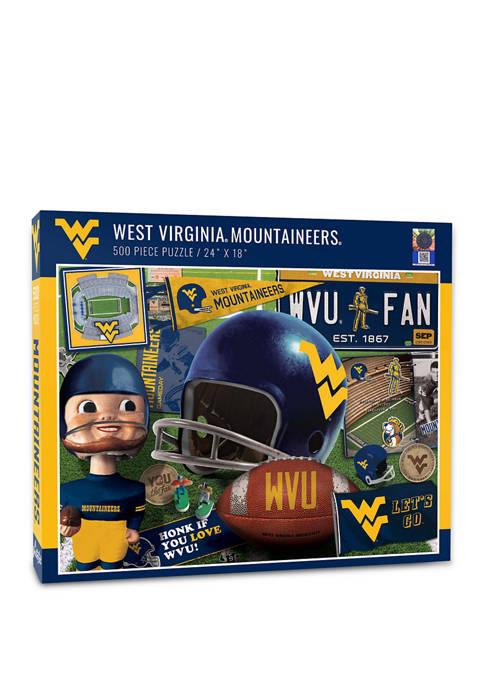 NCAA West Virginia Mountaineers Retro Series Puzzle - 500 Pieces