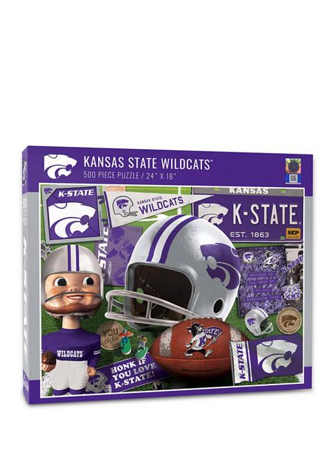 NCAA Kansas State Wildcats Retro Series Puzzle - 500 Pieces
