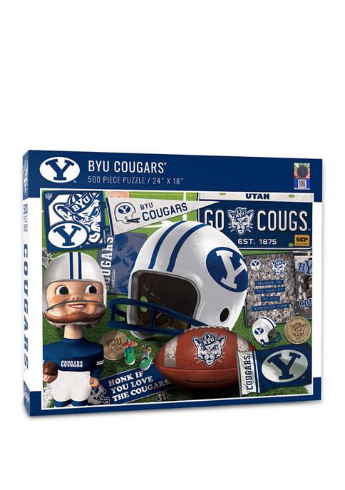 NCAA BYU Cougars Retro Series Puzzle - 500 Pieces