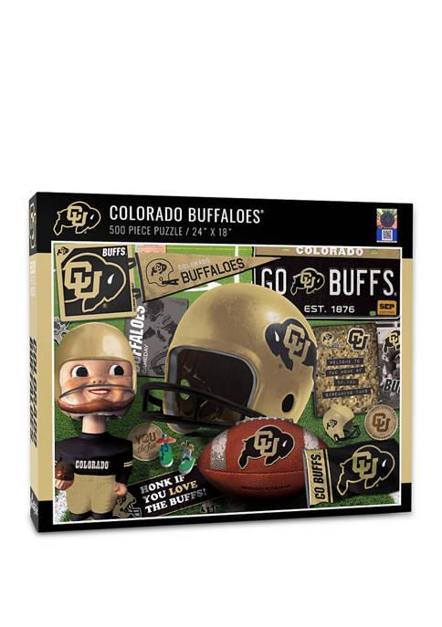 NCAA Colorado Buffaloes Retro Series Puzzle - 500 Pieces