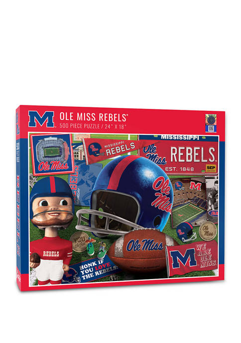 NCAA Mississippi Rebels Retro Series Puzzle - 500 Pieces