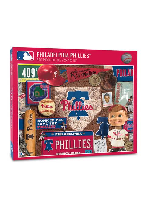 MLB Philadelphia Phillies Retro Series Puzzle - 500 Pieces