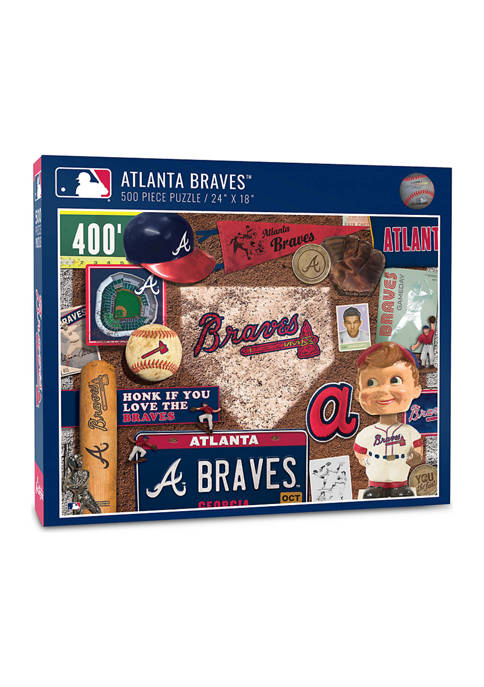 MLB Atlanta Braves Retro Series Puzzle - 500 Pieces
