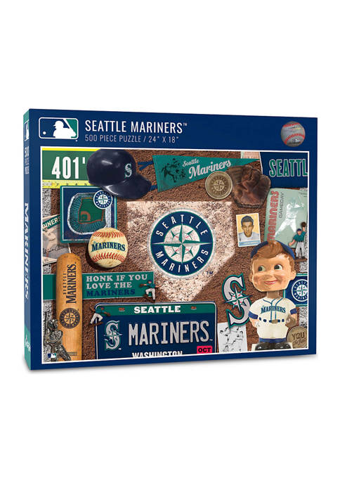 MLB Seattle Mariners Retro Series Puzzle - 500 Pieces