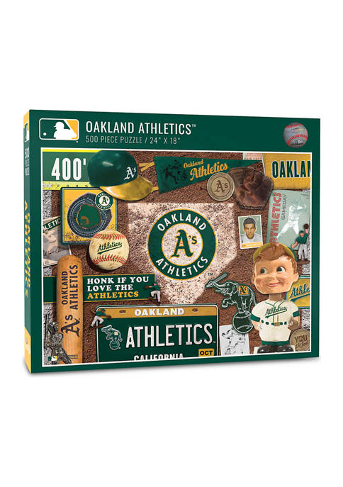 MLB Oakland Athletics Retro Series Puzzle - 500 Pieces