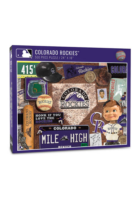 MLB Colorado Rockies Retro Series Puzzle - 500 Pieces