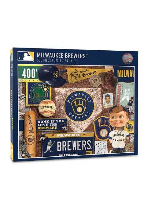 MLB Milwaukee Brewers Retro Series Puzzle - 500 Pieces
