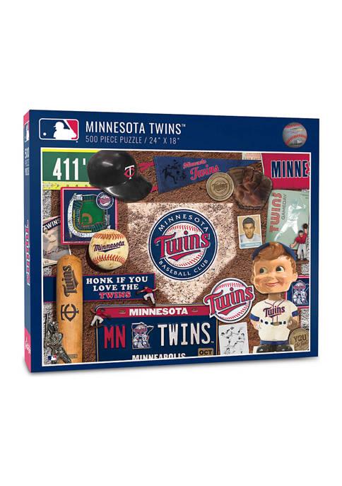 MLB Minnesota Twins Retro Series Puzzle - 500 Pieces