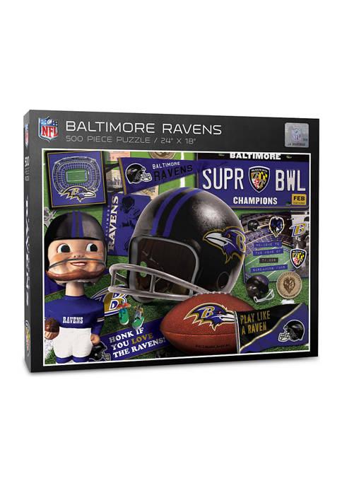 You The Fan Baltimore Ravens Retro Series Puzzle