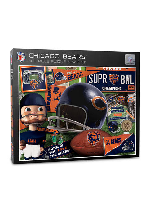 Chicago Bears Retro Series Puzzle - 500 Pieces