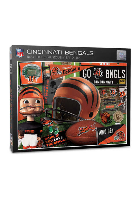 Cincinnati Bengals Retro Series Puzzle - 500 Pieces