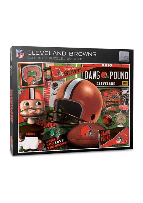 Cleveland Browns Retro Series Puzzle - 500 Pieces