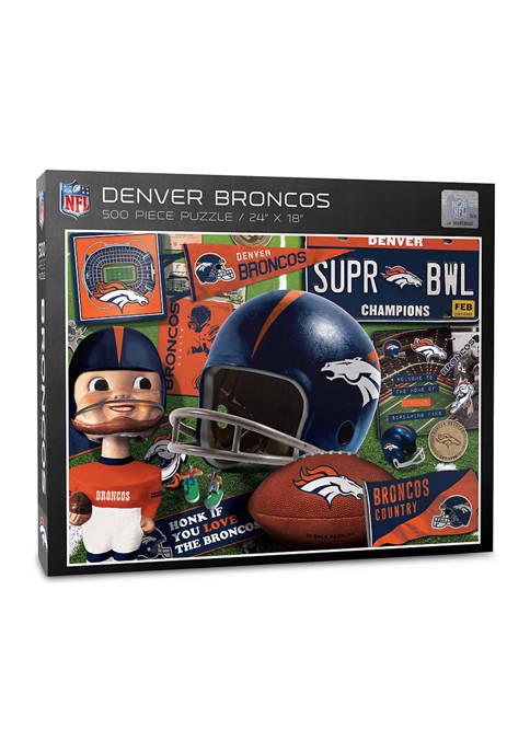 Denver Broncos Retro Series Puzzle - 500 Pieces
