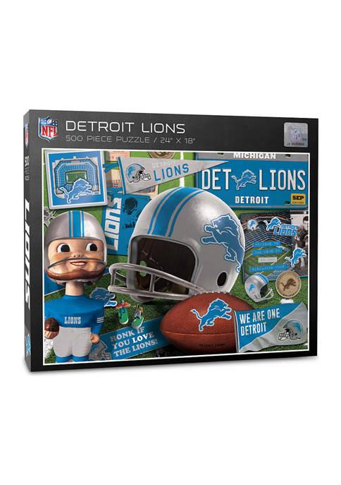 You The Fan Detroit Lions Retro Series Puzzle