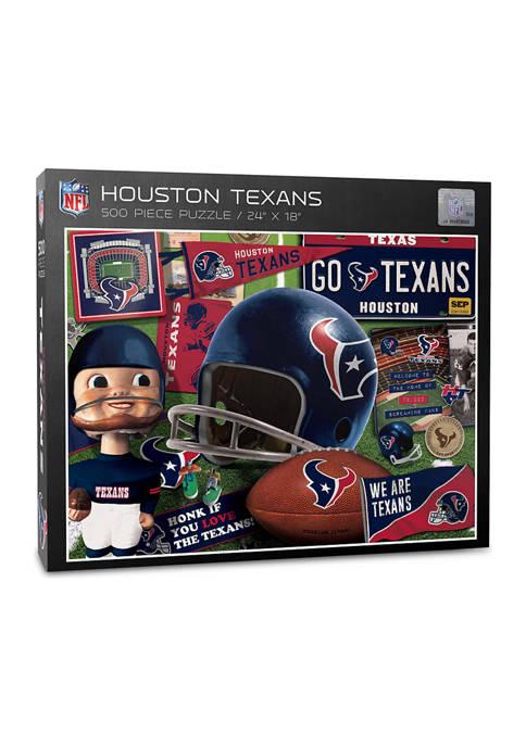 You The Fan Houston Texans Retro Series Puzzle