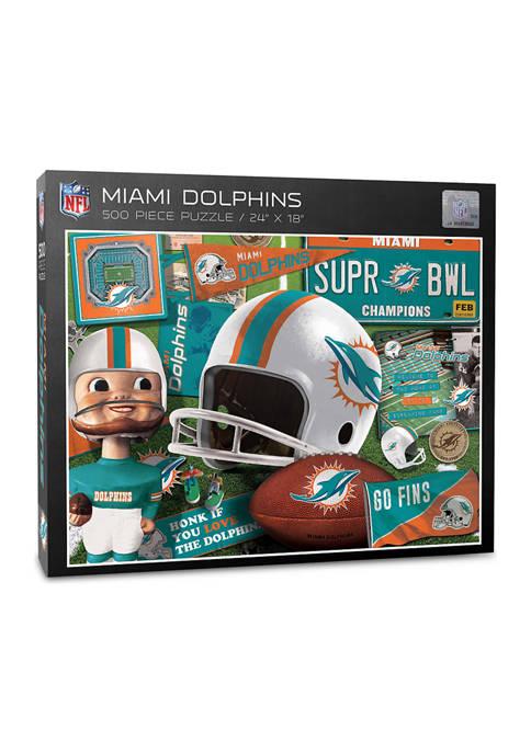 Miami Dolphins Retro Series Puzzle - 500 Pieces