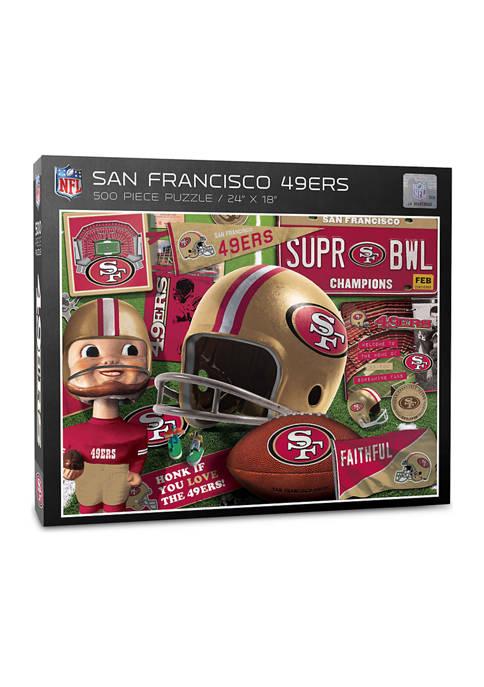 San Francisco 49ers Retro Series Puzzle - 500 Pieces